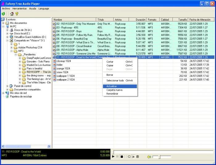 Eufony Free Audio Player
