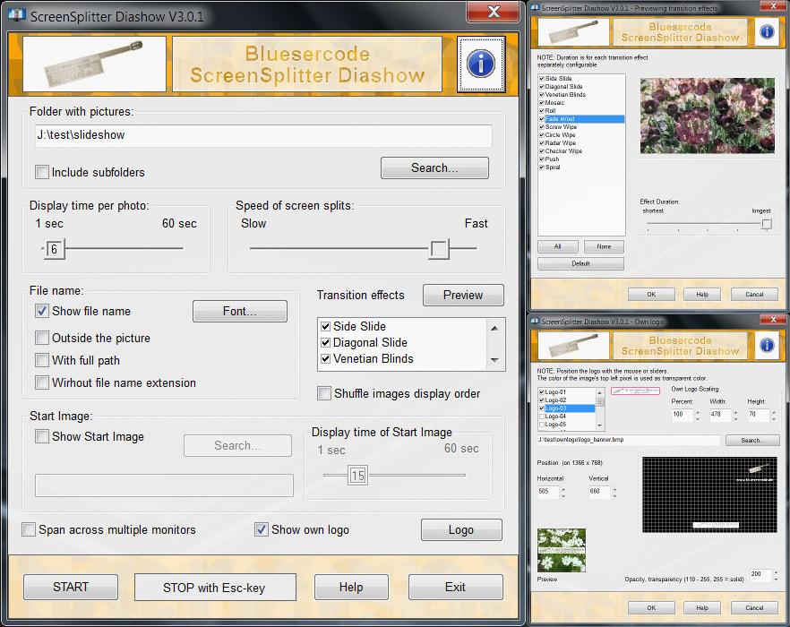 ScreenSplitter Diashow