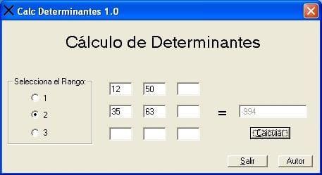 Calc Determinantes