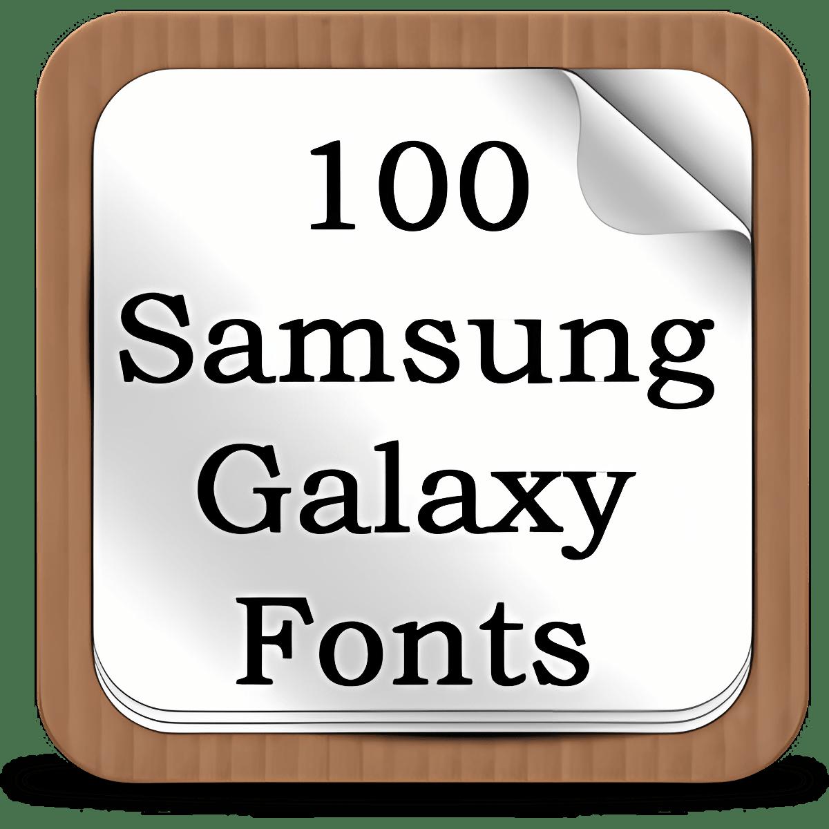 100 SamsungGalaxy Fonts 0.3