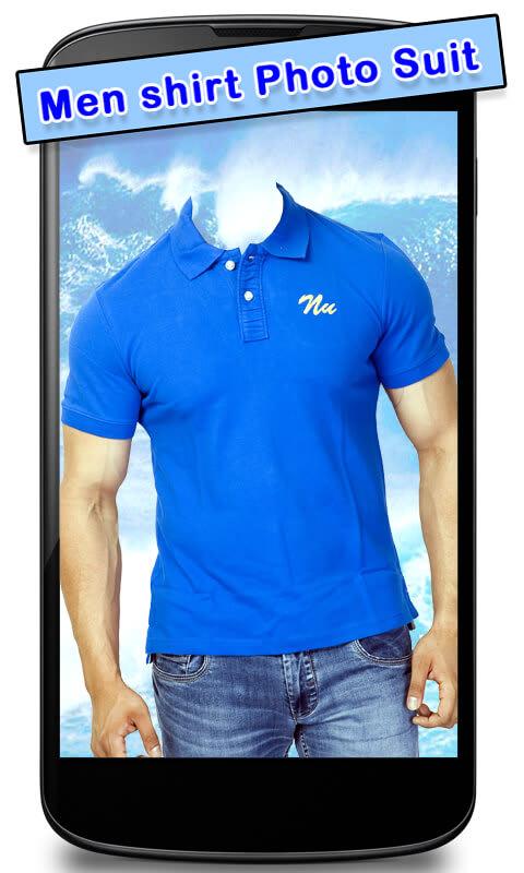 Men Shirt Photo Suit New