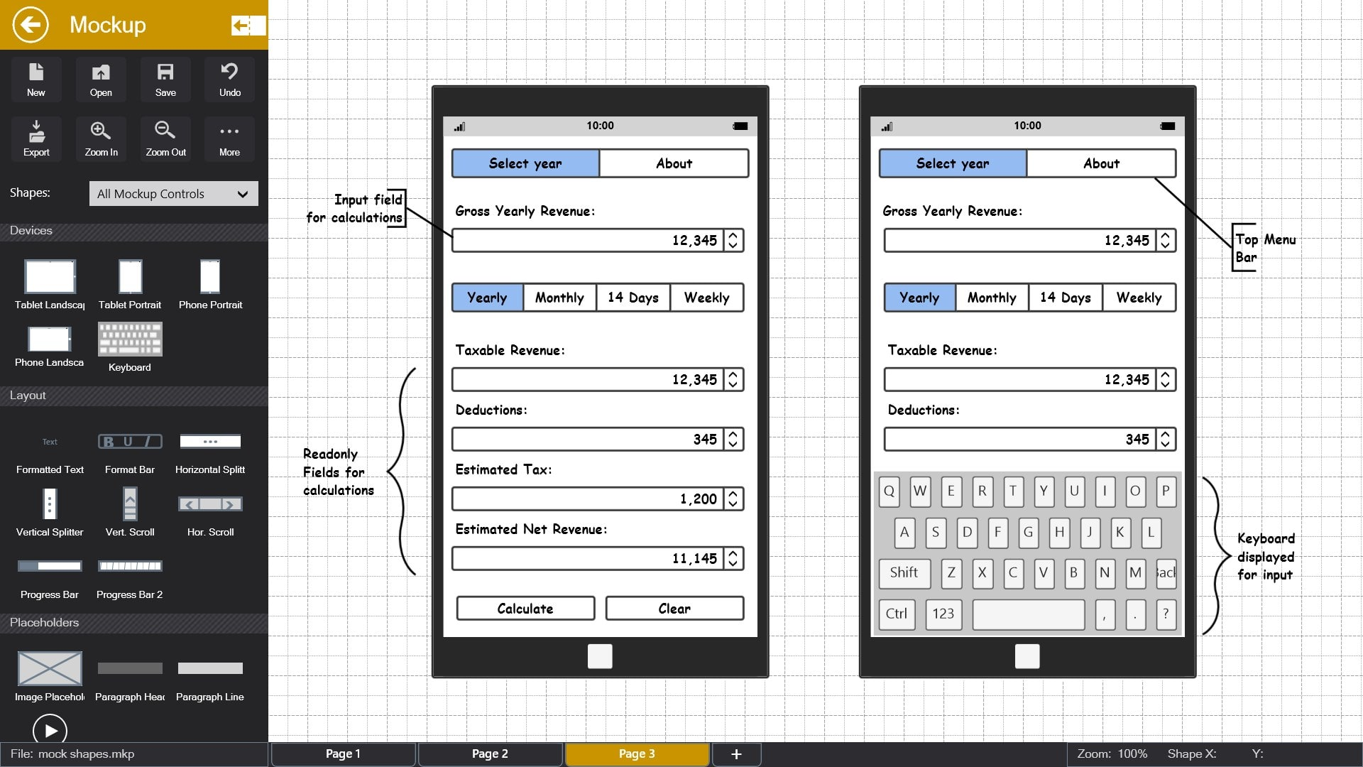 Mockup Pro - Wireframe and Interface Design