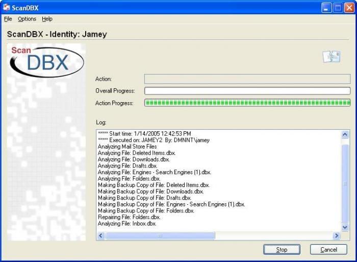 ScanDBX for Outlook Express