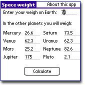 Space weight