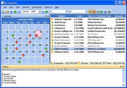 My Expenses + Desktop Edition
