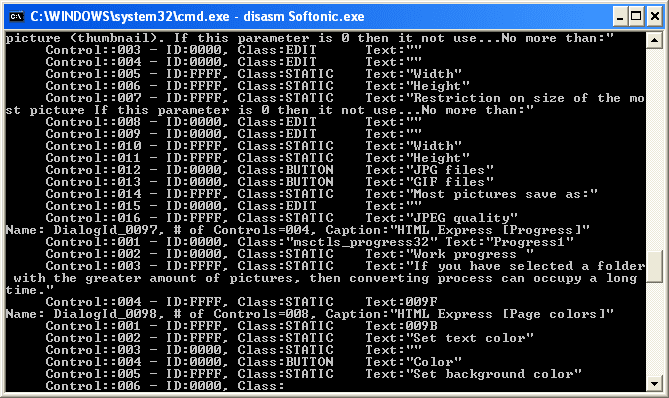 Win32Program Disassembler