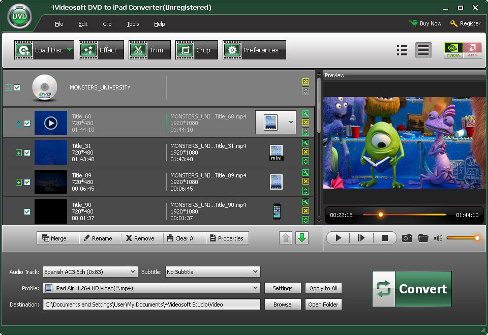 4Videosoft DVD to iPad Converter