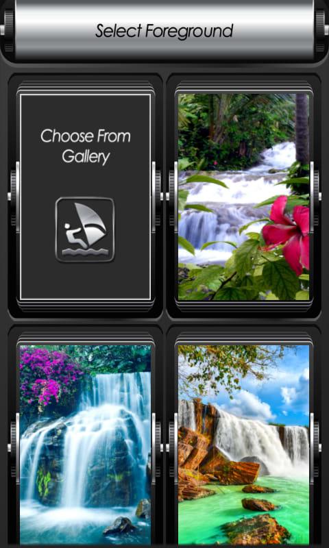Waterfall Zipper Lock Screen