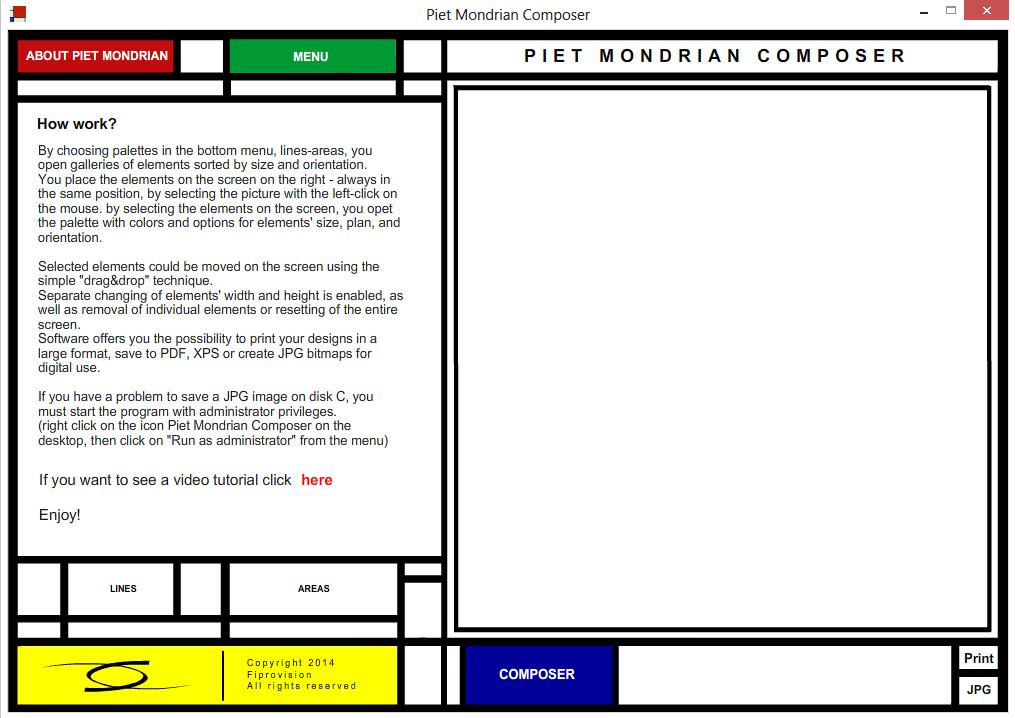 Piet Mondrian Composer