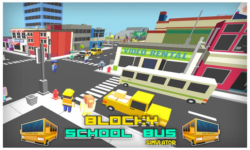 Blocky School Bus Simulator