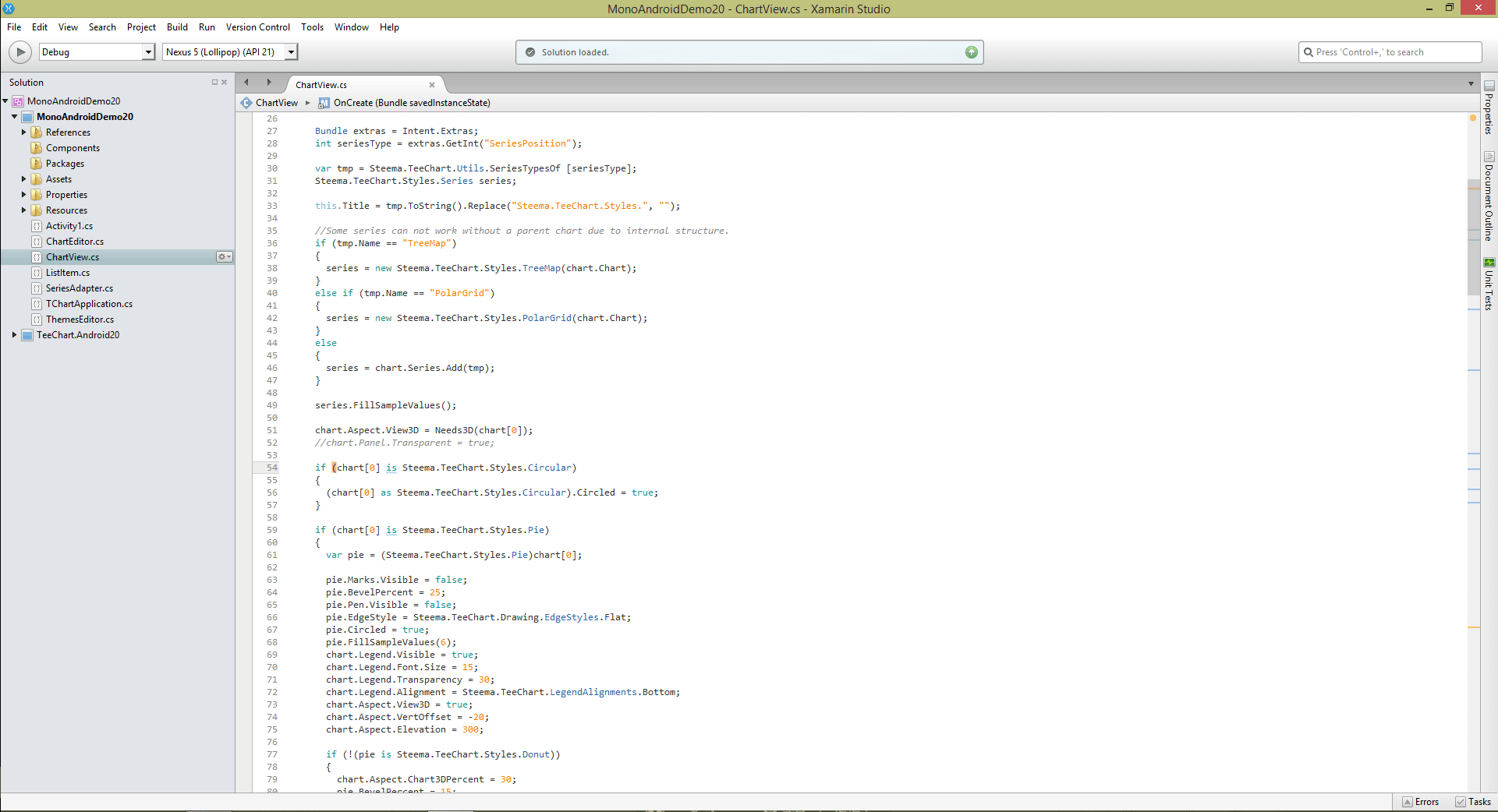 TeeChart NET for Xamarin.Android