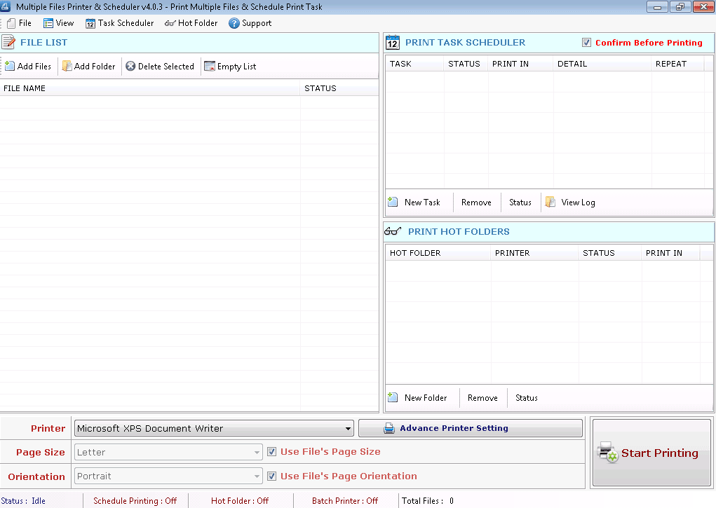 Multiple Files Printer & Scheduler
