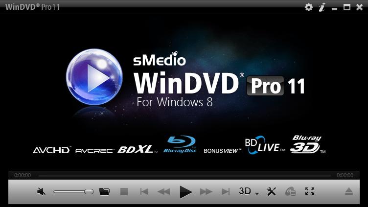 sMedio WinDVD Pro 11 for Windows 10