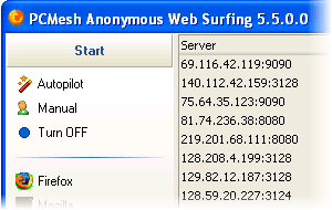 PC Mesh Anonymous Web Surfing