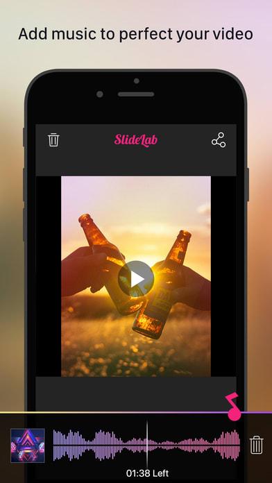 SlideLab - Add Music to Photos & Slideshow Editor