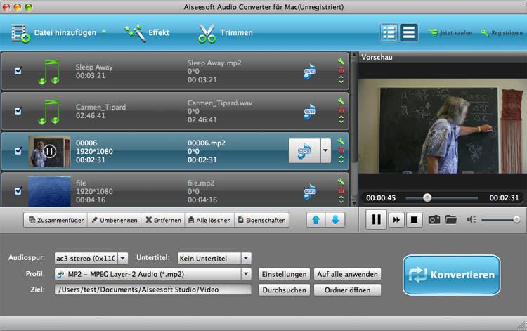 Aiseesoft Audio Converter für Mac