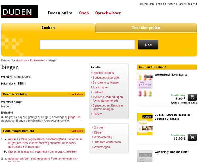 online handel duden