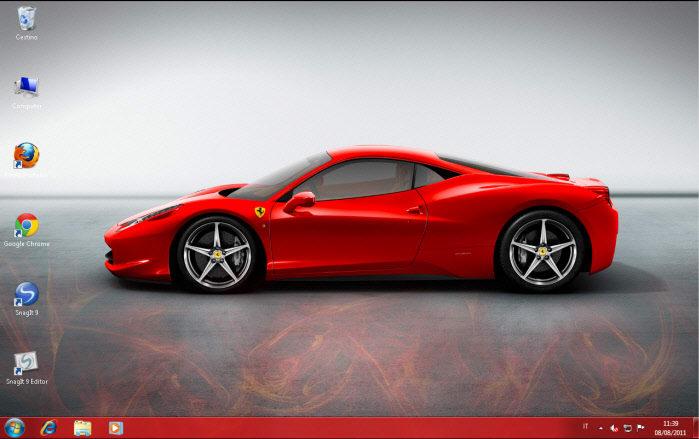 Tema Ferrari per Windows 7