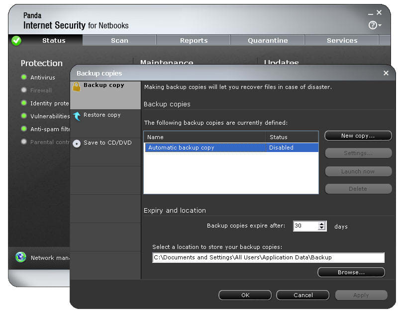 Panda Internet Security for Netbooks