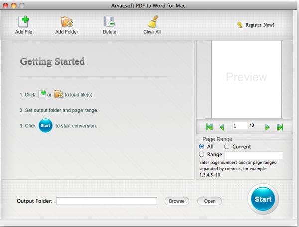 Amacsoft PDF to Word for Mac
