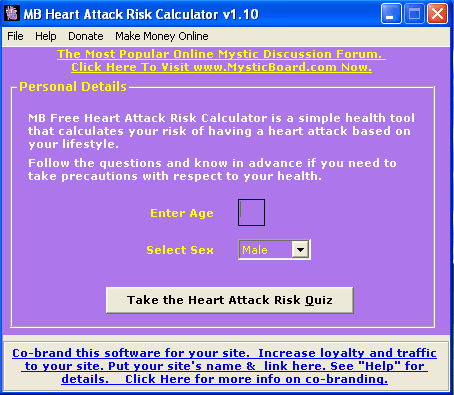 MB Heart Attack Risk Calculator