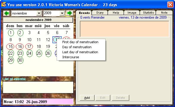 Victoria's Woman Calendar