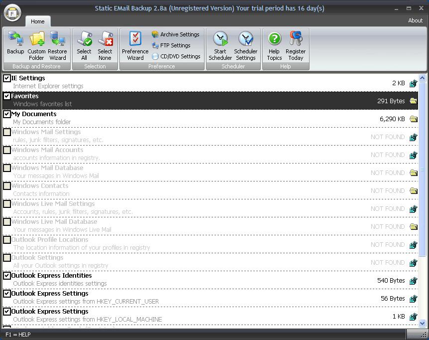 Static IncrediMail Backup