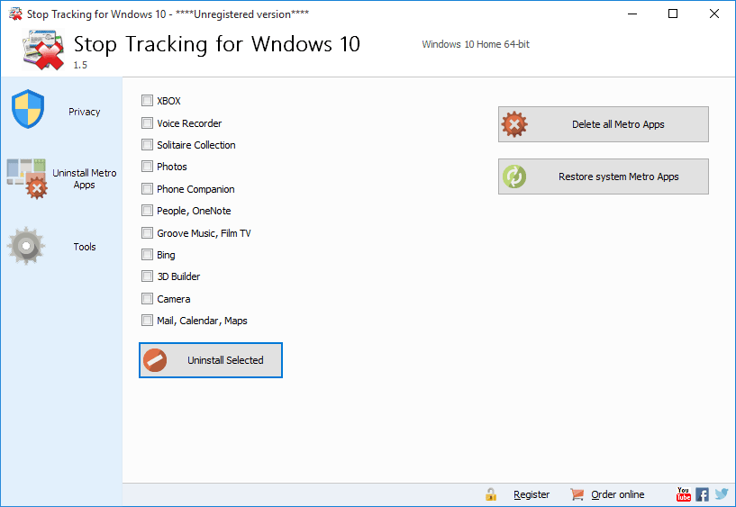 Stop Tracking for Wndows 10