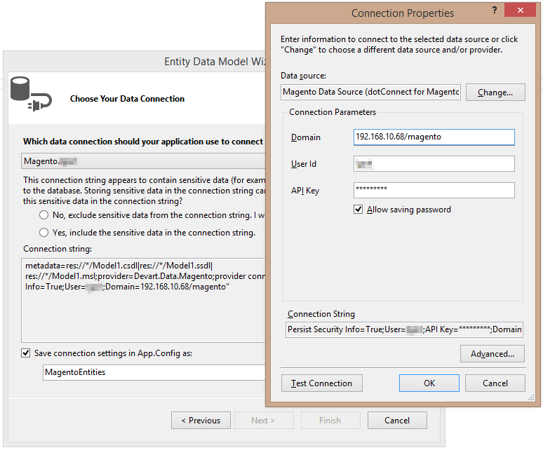 ADO.NET Provider for Magento
