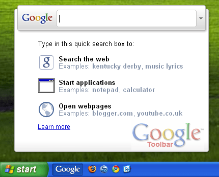 Google Toolbar IE