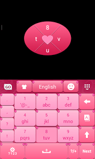 Amor Pink Keyboard Theme