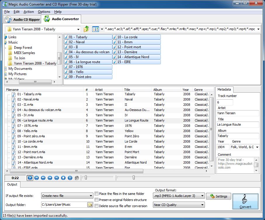 Magic Audio Converter and CD Ripper