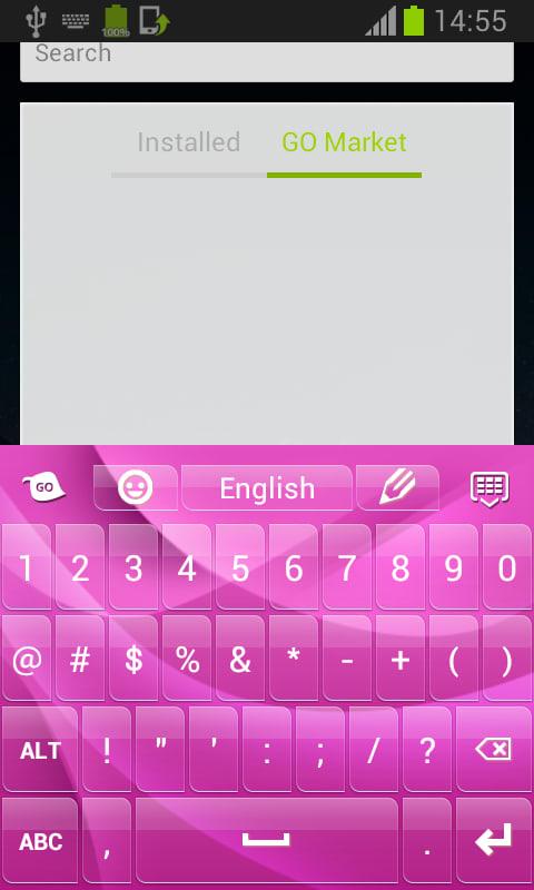 Keypad Themes Pink