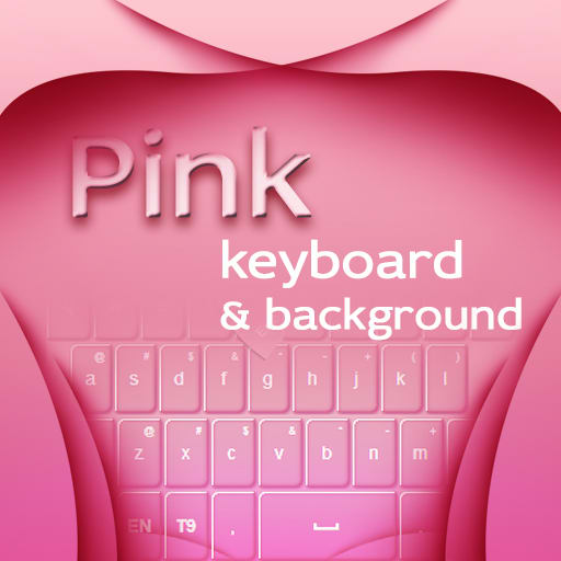 Pink Keyboard and Background