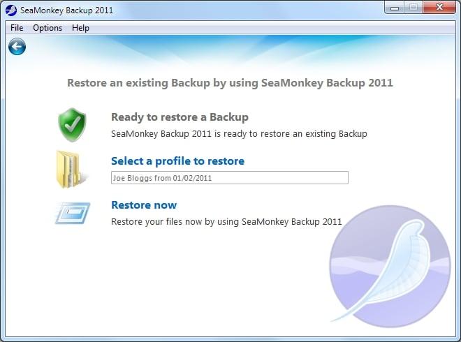 SeaMonkey Backup 2012