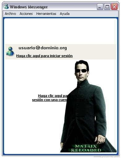 Matrix Reloaded Messenger Skin