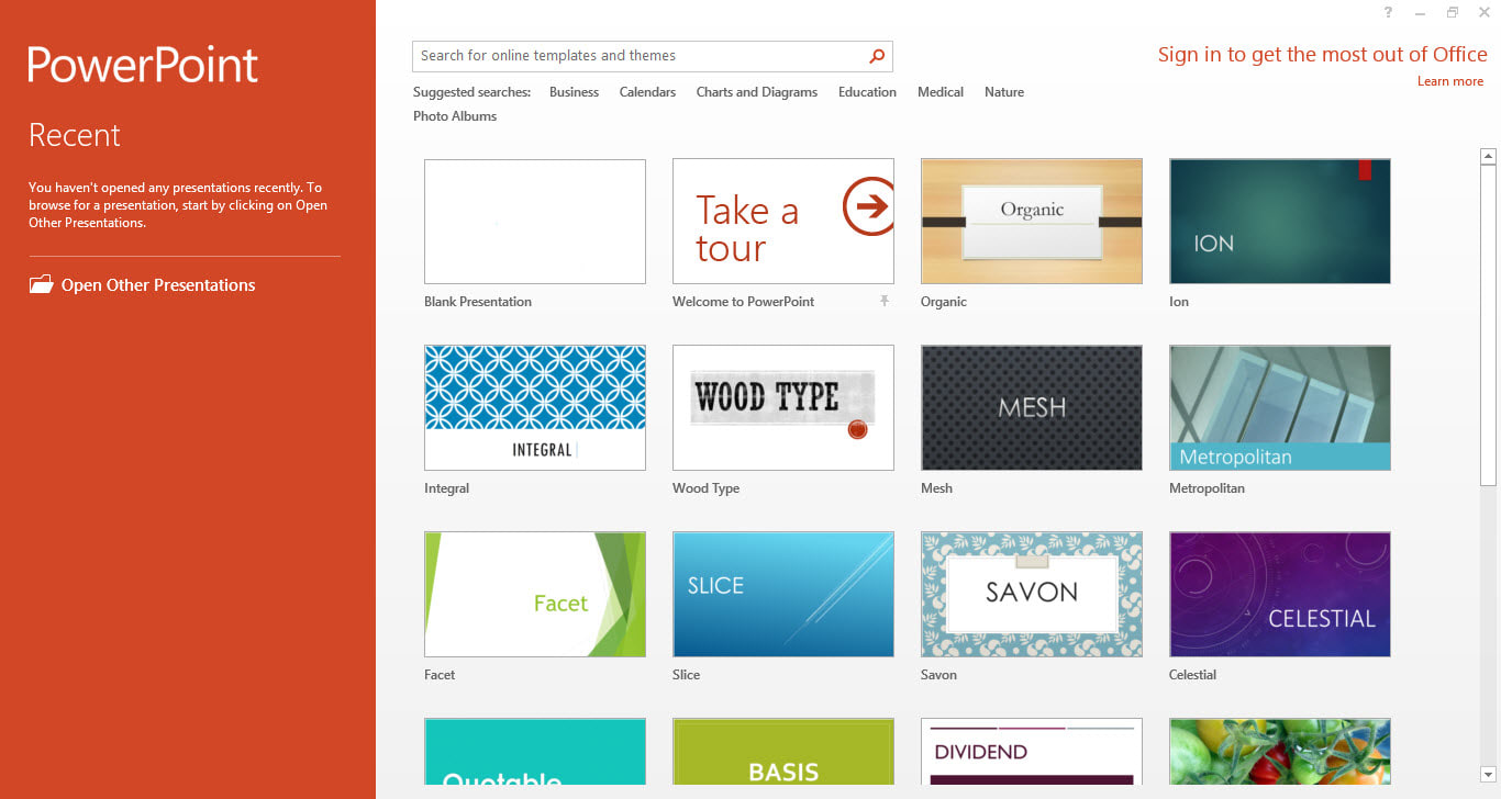 Microsoft powerpoint 2013 descargar for Design templates for powerpoint 2013