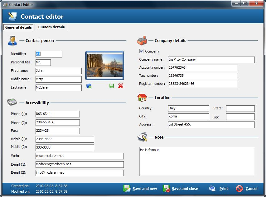 Free Address Book - Contact management software