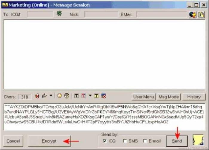 Top Secret Messenger for ICQ99