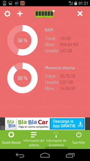 Optimizador Memoria HD