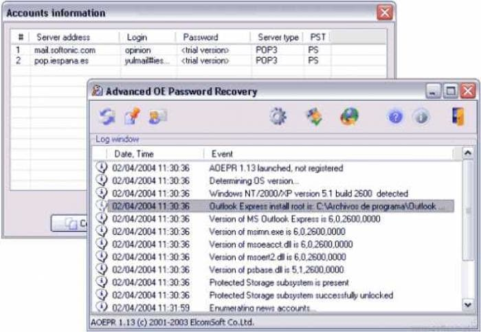 Advanced Outlook Express Password Recovery