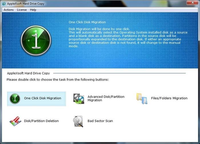 AppleXsoft Hard Drive Copy