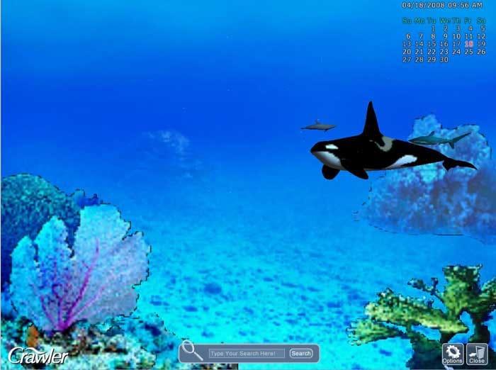 crawler 3d marine aquarium screensaver