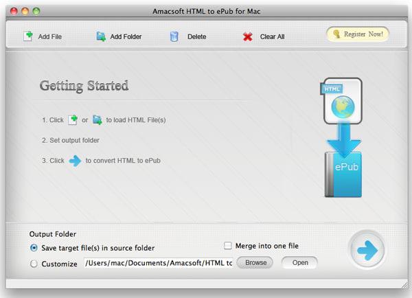 Amacsoft HTML to ePub for Mac