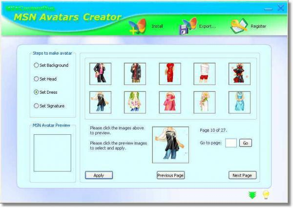 MSN Avatars Creator
