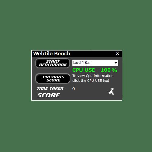 Webtile CPU Benchmark