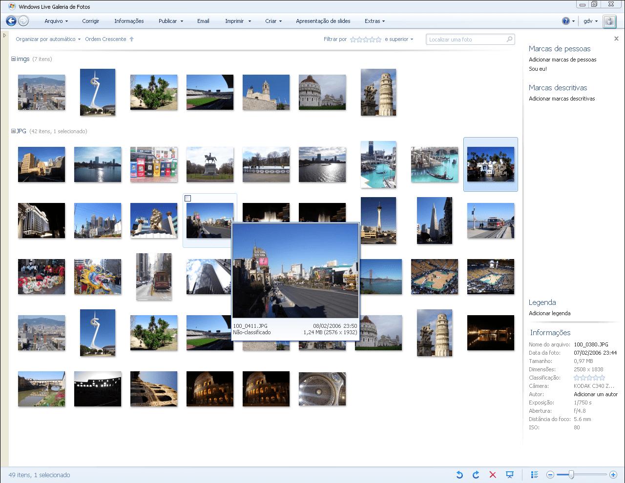 Galeria de Fotos do Windows Live 2012