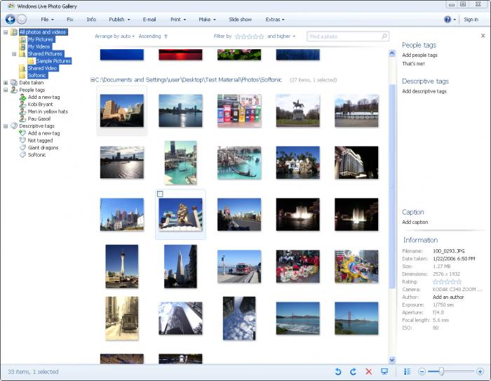 Windows Live Photo Gallery 2012