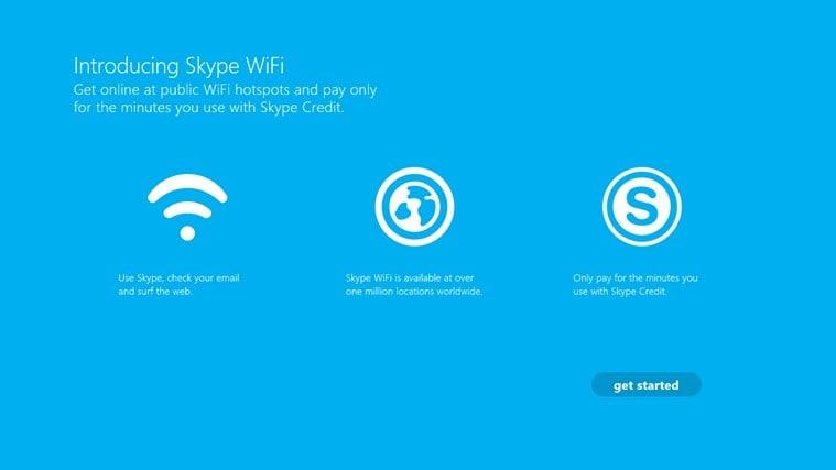Skype WiFi pour Windows 10