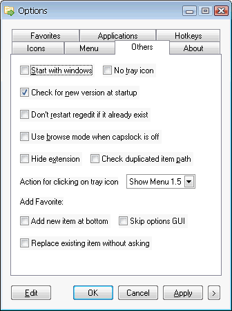 Folder Menu